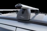 """Багажная система """"LUX"""" с дугами 1,2м аэро-классик (53мм) для а/м Volvo XC60 I, внедорожник, 2008-н.в. с интегрированным (низким) рейлингом"""