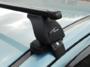 """Багажная система 3 """"LUX"""" с дугами 1,1м прямоугольными в пластике для а/м Lada Vesta 2015-... г.в. и Lada Vesta Cross"""