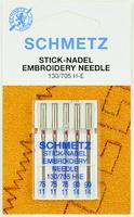 Иглы SCHMETZ для вышивки №75-90, 5 шт.