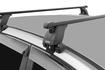 """Багажная система 3 """"LUX"""" с дугами 1,2м прямоугольными в пластике для а/м Kia Soul III 2019-... г.в. без рейлингов"""