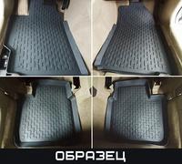 Коврики салона VW Touareg 2010-> с бортиками черные (4 части)