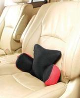 Подушка для поддержки поясницы (серия Embrace) красно/черная латекс
