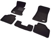 Коврики салона текст.BMW X1 E84 2013-> (RWD) LINER 3D VIP с бортиком черные