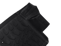 Коврики салона Kia Sportage II 2005-> черные (3 части) сплошные задки