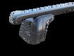 """Багажная система 2 """"LUX"""" с дугами 1,2м прямоугольными в пластике для а/м Kia Soul III 2019-... г.в. с интегр. рейл."""