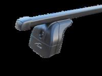 """Багажная система 2 """"LUX"""" с дугами 1,1м прямоугольными в пластике для а/м Lada Xray Cross 2018-... г.в. с инегр. рейлингами"""