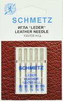 Иглы SCHMETZ кожа №80-100, 5 шт.