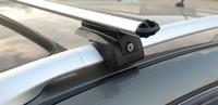 """Багажная система """"LUX"""" ЭЛЕГАНТ с дугами 1,2м аэро-классик (53мм) для а/м Volvo XC90 внедорожник 2002-н.в. с рейлингами (с замками)"""