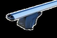 """Багажная система """"LUX"""" КЛАССИК с дугами 1,2м аэро-классик (53мм) для Mitsubishi Pajero Sport II, 2008-н.в. внедорожник, с рейлингами."""