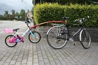 Прицепное устройство детского велосипеда к взрослому TrailGator IP 05-00345 красное